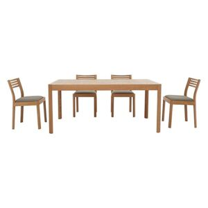 Ercol - Ella Medium Extending Dining Table and 4 Dining Chairs - Brown