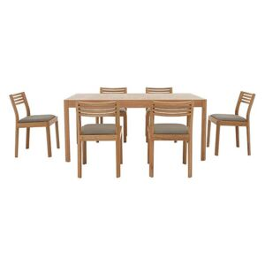 Ercol - Ella Medium Extending Dining Table and 6 Dining Chairs - Brown