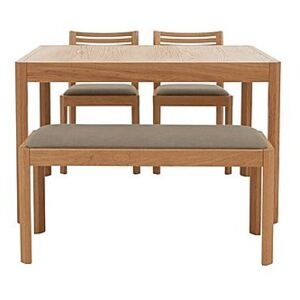 Ercol - Ella Small Extending Dining Table, 2 Dining Chairs and Small Dining Bench - Brown