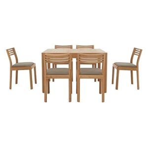 Ercol - Ella Small Extending Dining Table and 6 Dining Chairs - Brown