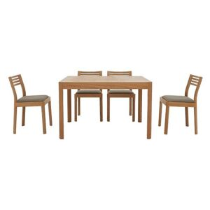 Ercol - Ella Small Extending Dining Table and 4 Dining Chairs - Brown