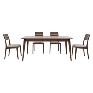 Ercol - Lugo Medium Extending Dining Table and 4 Dining Chairs - Brown