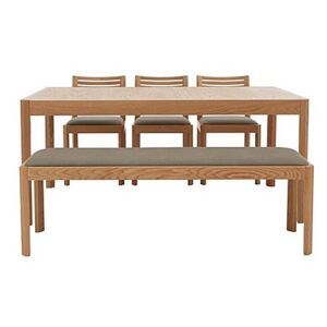 Ercol - Ella Medium Extending Dining Table, 3 Dining Chairs and Medium Dining Bench - Brown
