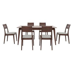 Ercol - Lugo Medium Extending Dining Table and 6 Dining Chairs - Brown
