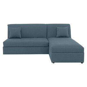 Versatile Small 2 Seater Fabric Chaise Sofa Bed No Arms