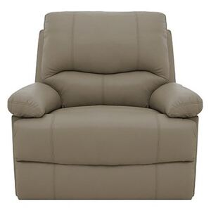 Dallas Leather Manual Recliner Armchair - Brown