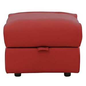 Dallas Leather Footstool - Red