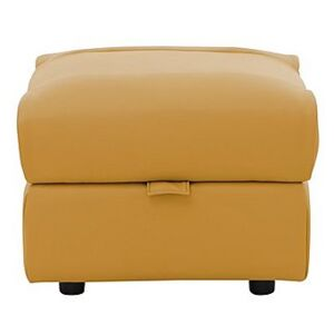 Dallas Leather Footstool - Yellow