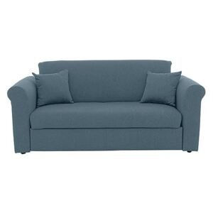 Versatile 2 Seater Fabric Sofa Bed with Scroll Arms