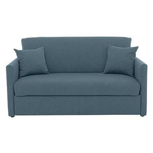 Versatile Small 2 Seater Fabric Sofa Bed with Slim Arms