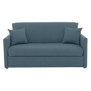 Versatile 2 Seater Fabric Sofa Bed with Slim Arms