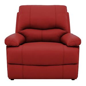 Dallas Leather Armchair - Red
