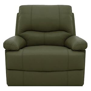 Dallas Leather Manual Recliner Armchair - Green