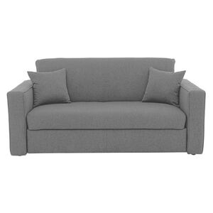 Versatile 2 Seater Fabric Sofa Bed with Box Arms - Grey