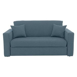 Versatile Small 2 Seater Fabric Sofa Bed with Box Arms