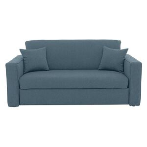 Versatile 2 Seater Fabric Sofa Bed with Box Arms