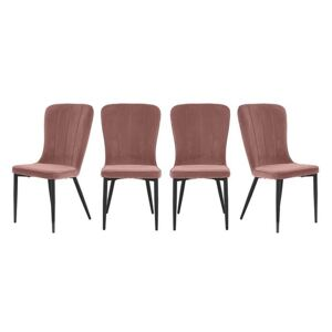 Set of 4 Raph Chairs - Pink