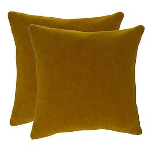 The Lounge Co. - Peyton Pair of Large Scatter Cushions - Yellow