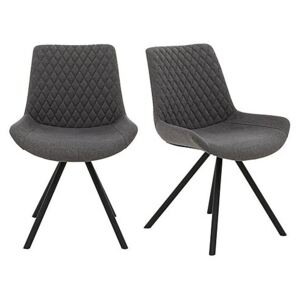Rocket Pair of Dining Chairs - Grey
