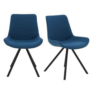 Rocket Pair of Dining Chairs - Blue