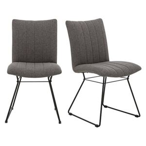 Ace Pair of Dining Chairs - Grey