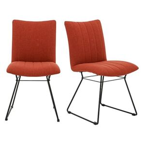 Ace Pair of Dining Chairs - Orange