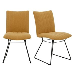 Ace Pair of Dining Chairs - Yellow