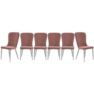 Set of 6 Raph Chairs - Pink