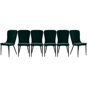 Set of 6 Raph Chairs - Green