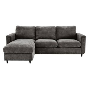Esprit Fabric Chaise Sofa Bed with Storage - Grey