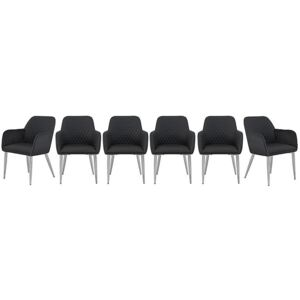Set of 6 Leo Faux Leather Chairs