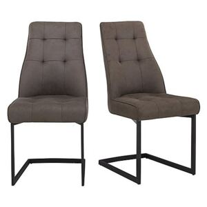 Merlin Pair of Dining Chairs - Grey