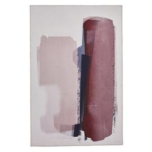 Michelle Collins Abstract Art Rose and Crimson Rug - 120cm-x-170cm