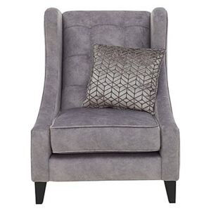 Amora Fabric Winged Accent Chair