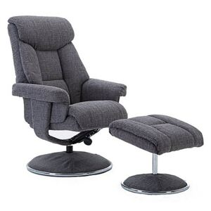 Bruges Fabric Swivel Chair and Footstool