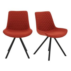 Rocket Pair of Dining Chairs - Red