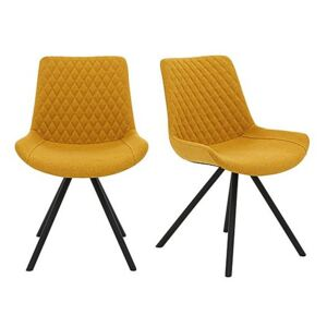 Rocket Pair of Dining Chairs - Yellow