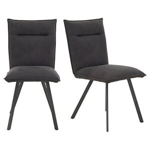 Moon Pair of Dining Chairs - Black