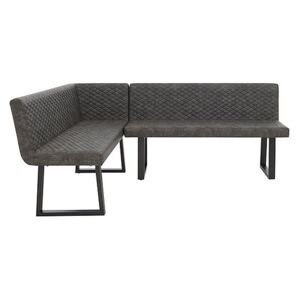 Compact Earth Left Hand Facing Corner Dining Bench - Grey