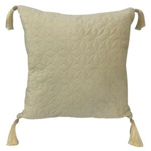 Star Quilted Cushion - Champagne - 43x43cm
