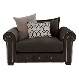 Alexander and James - Sumptuous Fabric Snuggler Chair - Brown