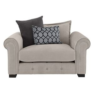 Alexander and James - Sumptuous Fabric Snuggler Chair - Beige