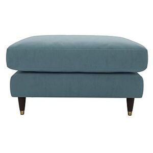 The Lounge Co. - Colette Fabric Footstool - Blue