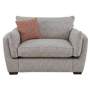 Living Proof Sofas - Griffin Fabric Snuggler Chair - Silver