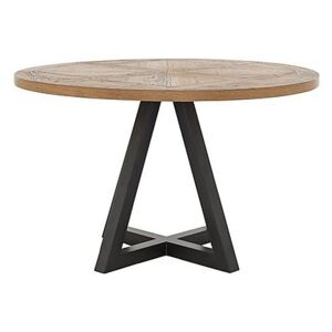 Globe Round Dining Table - Brown