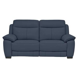 Starlight Express 2 Seater Leather Recliner Sofa with Power Headrests - Blue- World of Leather