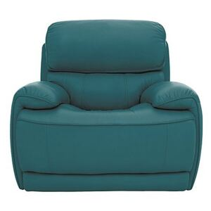 Relax Station Rocco Leather Power Rocker Armchair with Power Headrests - Blue- World of Leather