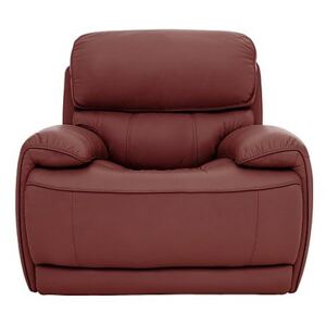 Relax Station Rocco Leather Power Rocker Armchair with Power Headrests - Red- World of Leather