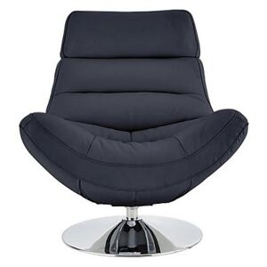 Salvador Leather Swivel Chair - Blue