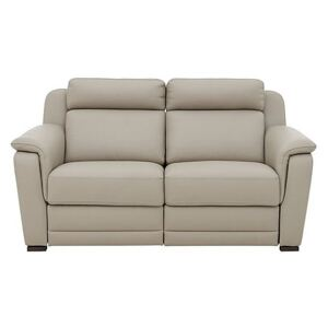Nicoletti - Matera 2.5 Seater Leather Power Recliner Sofa with Pad Arms - Beige